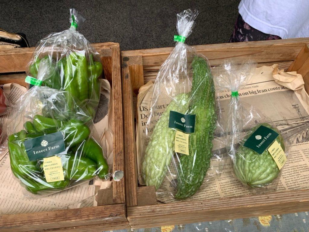 無農薬野菜販売 風景